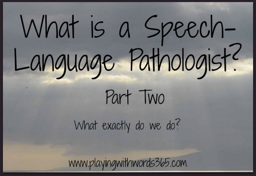 What is a speech langauge pathologist what do we do