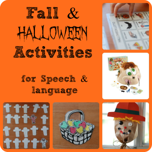 Speech Therapy Activities: Fall and Halloween