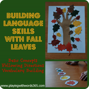 Friday Freebie: Falling Leaf Language Activity