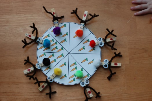 freebie friday christmas clothespin wheels