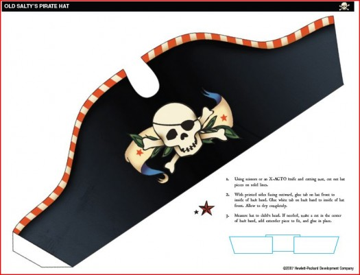 photo relating to Printable Pirate Hats referred to as Everetts Pirate Birthday Celebration!