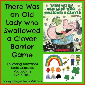 There Was an Old Lady Who Swallowed a Clover {Barrier Game}