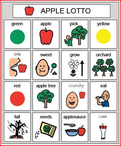 Apple Bingo from Speaking of Speech
