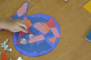 Rainbow Fish Torn Paper Craft {Activity Tuesday}
