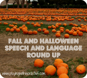 Fall and Halloween Speech and Language Roundup
