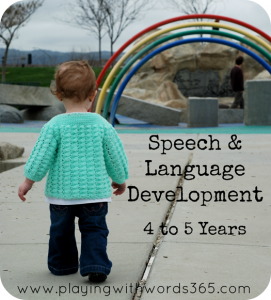 speech and language development 4-5 years