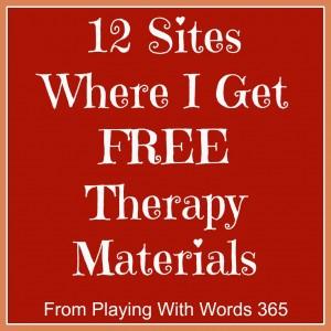 12 sites where I get free materials