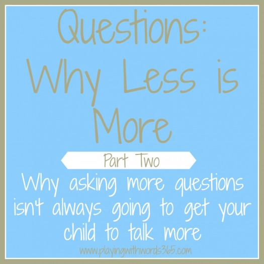 Questions- why less is more part two
