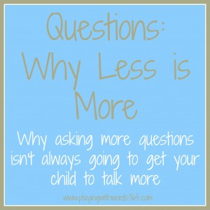 Questions: Why Less is More {Part One}