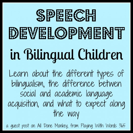 speech development in bilingial children