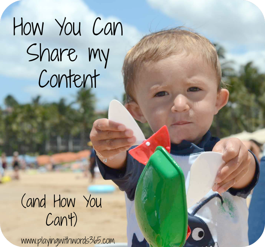 How You Can Share My Content And How You Can't