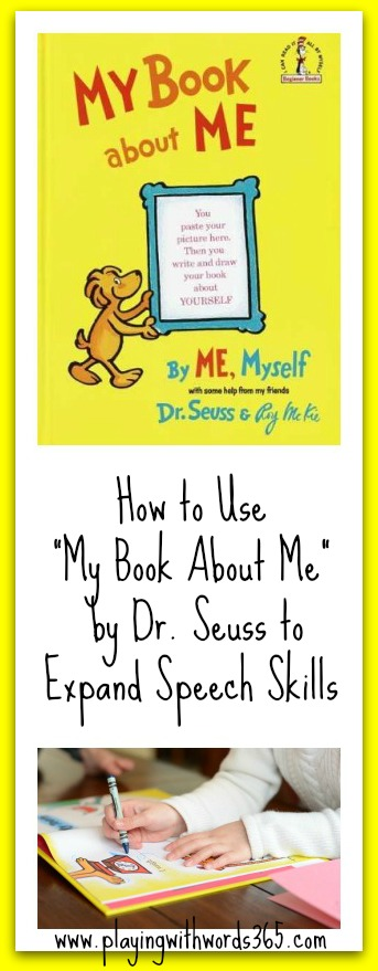 How to use My Book About Me to Expand Speech Skills in Young Children