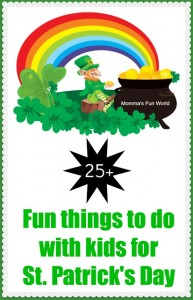 St. Patty's kid's crafts Mams Fun World