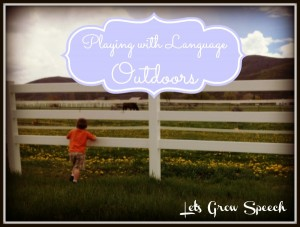 Playing with language Outdoor-Play