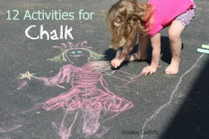 12 activities for chalk reading confetti