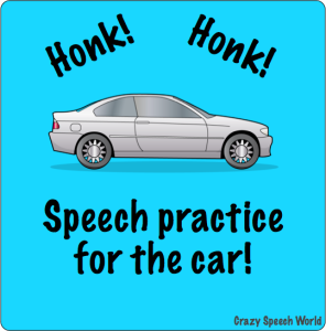 Honk Honk! Speech Practice for the Car!