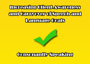 Increasing Client Awareness and Carryover of Speech and Language Goals