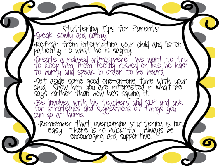 childhood stuttering  information  warning signs  and tips