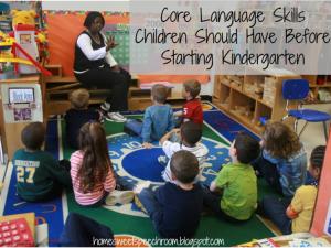 Core Language Skills Children Should Have Before Starting Kindergarten
