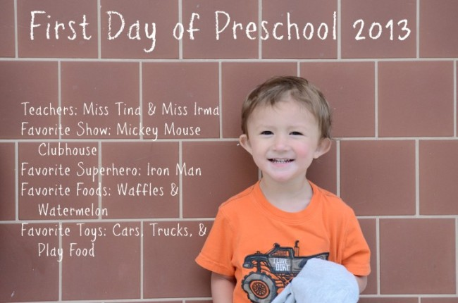 Everett's First Day Minus School Name