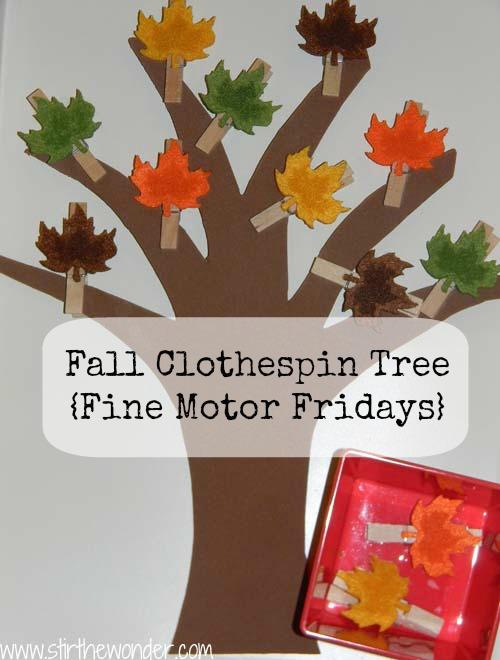 Stir the wonder fall clothespin tree