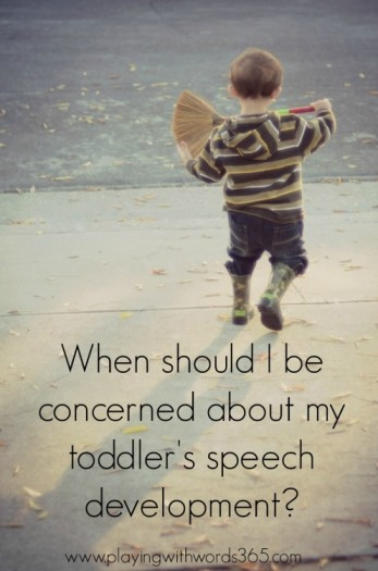 toddler speech development