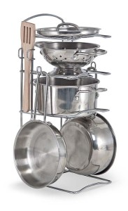 melissa and doug stainless steel cook set
