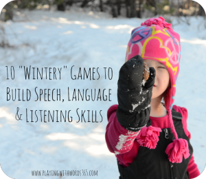 Winter Games to Help Build Speech & Language Skills