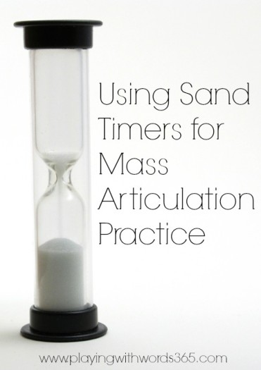 using sand timers