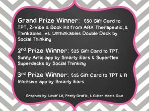 Blog Hop Prizes