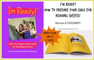 I'm Ready!™ How to Prepare Your Child for Reading Success {Review, Giveaway, & a FREEBIE!}