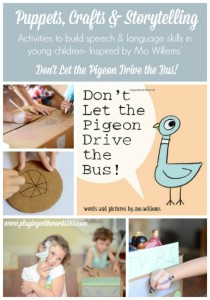 Don't Let the Pigeon Drive the Bus: Puppets, Crafts & Storytelling {Virtual Book Club for Kids}