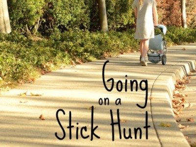 going on a stick hunt