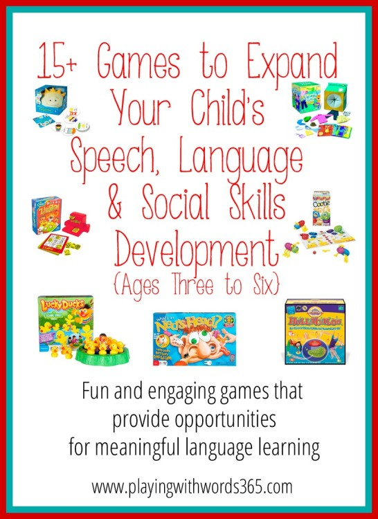 15+ Great Games for Speech, Language & Social Skills ...